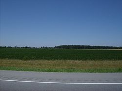 Parts of Duchouquet Township are covered by farms and woods.