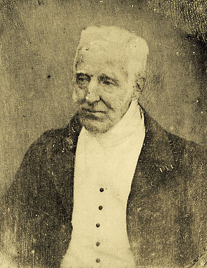 English: A daguerreotype portrait of the aged ...