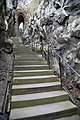Dumbarton Castle - view up stair to portcullis arch.jpg