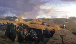 Jørgen Sonne (painter) - Scene from the Battle of Dybbøl