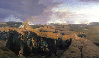1864 in Denmark - The Battle of Dybbøl painted by Jørgen Valentin Sonne in 1871