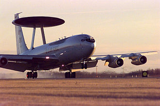 Air Combat Command - A Boeing E-3 Sentry Airborne Warning and Control System from Tinker AFB, Oklahoma