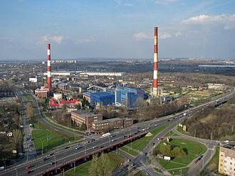 Zagłębie Dąbrowskie - EC Będzin power-plant and panorama