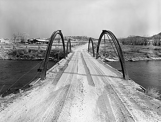 National Register of Historic Places listings in Fremont County, Wyoming - Image: ELS Bridge over Big Wind River