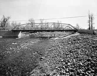 National Register of Historic Places listings in Uinta County, Wyoming - Image: ERT Bridge over Blacks Fork
