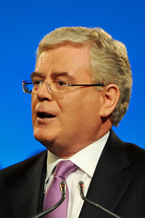 Eamon Gilmore, leader of the Irish Labour Part...