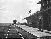 Eatonia Railway Station pre1940