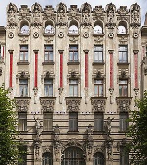 Albert Street, Riga - Image: Edificio modernista en Alberta iela 2a, Riga, Letonia, 2012 08 07, DD 02