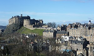 Edinburgh Castle - Image: Edinburgh Castle from the south east