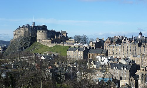 Edinburgh Castle from the south east