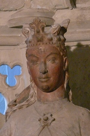 Eadgyth - Detail from a Gothic statue in Magdeburg Cathedral assumed to represent Otto and Edith