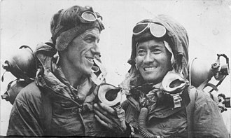 Edmund Hillary - Hillary and Tenzing on return from the summit of Everest