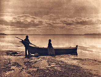 Puget Sound region - Evening on Puget Sound by Edward S. Curtis, 1913