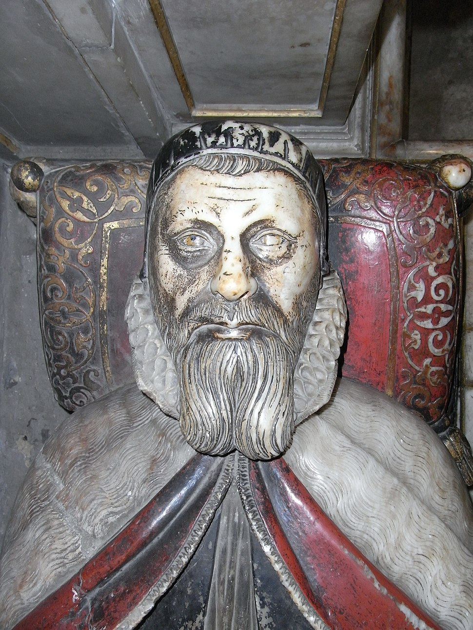 Effigy of John Still at his tomb in Wells Cathedral, Somerset, UK - 20100930
