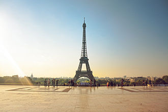 Tourism in Paris - The Eiffel Tower from the Place du Trocadéro