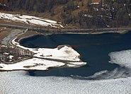 Einmündung des Inn und der Fedacia in den Silvaplaner See