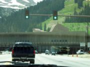 I-70 at the portal of the Eisenhower Tunnel.