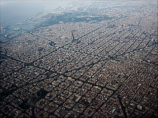 Eixample District of Barcelona in Catalonia, Spain
