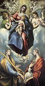 El Greco Virgin with Saints Agnes and Martina.jpg