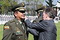 El presidente Juan Manuel Santos, impondrá la cuarta estrella al Director General de la Policía Nacional (8251959877).jpg