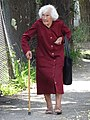 Elderly Woman in Street - Vratsa - Bulgaria (28082485817).jpg