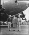 Eleanor Roosevelt, General Harmon, and Admiral Halsey in New Caledonia - NARA - 195974.tif