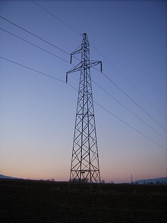 Transmission tower - Single-circuit three-phase transmission line