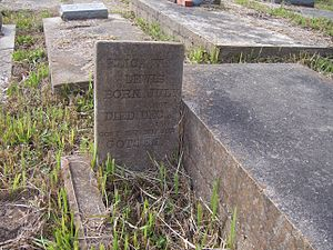 Cudjoe Lewis - Grave of Aleck/Elick Lewis in the Plateau Cemetery, Africatown, Mobile.