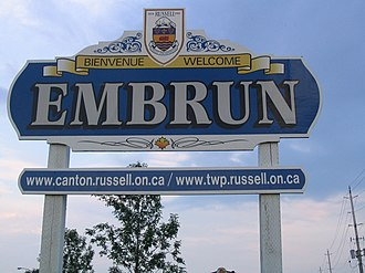Embrun, Ontario - Image: Embrun Sign