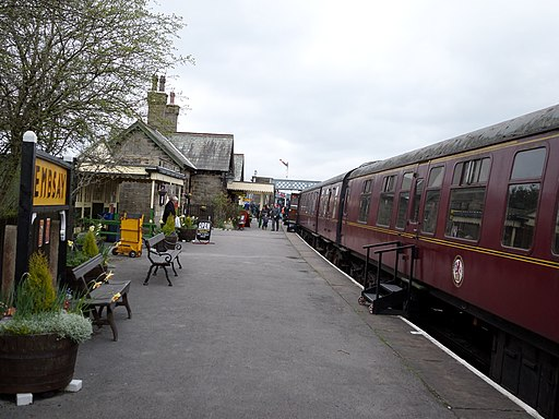 Embsay railway station looking towards Bolton Abbey station
