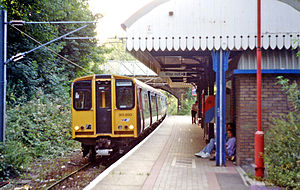 Emerson Park railway station - Emerson Park station in 1991