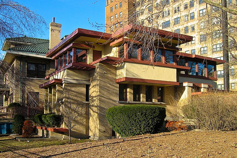 Emil Bach House, by Frank Lloyd Wright