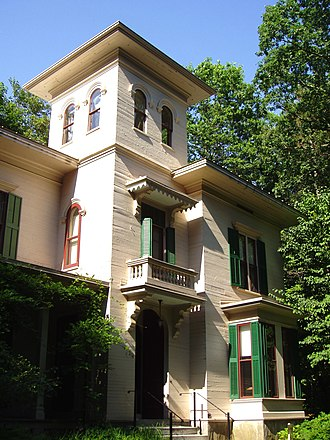 Emily Dickinson - The Evergreens, built by Edward Dickinson, was the home of Austin and Susan's family