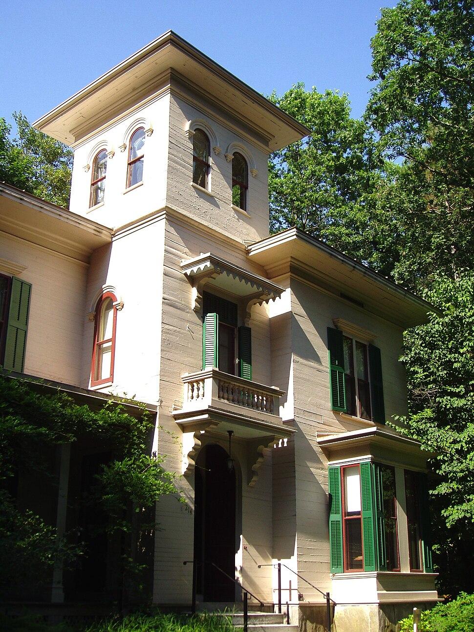 Emily Dickinson Homestead, Amherst, Massachusetts (from left)