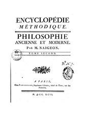 Encyclopédie méthodique - Philosophie - T2, p1, CON-F