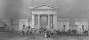 1837 in rail transport - The 'Euston Arch' by Radclyffe.