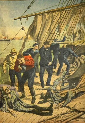 Ghost ship - The discovery of the Marlborough, as depicted by Le Petit Journal in 1913