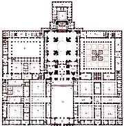 El Escorial: floor plan