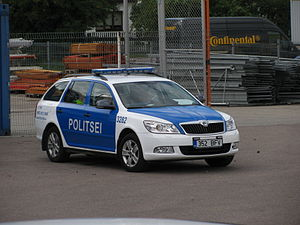 Estonian Police - An Estonian police vehicle.