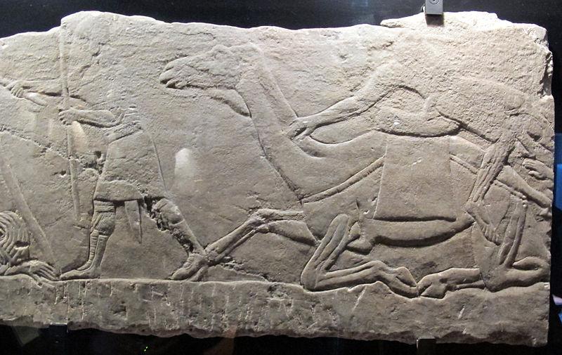 File:Età neoassira, tende di arabi incendiate dopo attacco, da pal. n di assurbanipal a ninive, 648-31 ac ca. 3.JPG