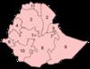 מפת מדינות אתיופיה