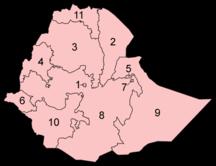 Etiopien-Större städer-Fil:Ethiopia regions numbered