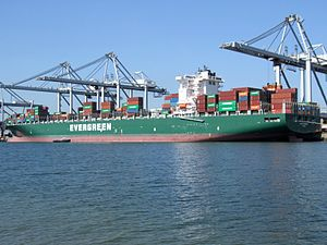 Ever Charming p2, at the Amazone harbour, Port of Rotterdam, Holland 10-Sep-2006.jpg