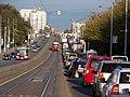 Evropská, od zastávky Nad Džbánem k zastávce Nádraží Veleslavín.jpg