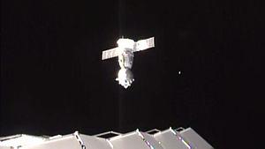 Soyuz TMA-18M - Soyuz TMA-18M undocks from the ISS, 2 March 2016.