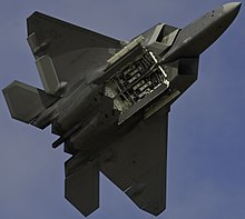 F-22u0027s underside with main bay doors open & Lockheed Martin F-22 Raptor - Wikipedia