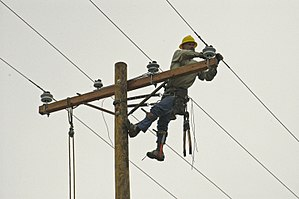 Lineworker - Image: FEMA 20472 Photograph by Marvin Nauman taken on 11 10 2005 in Louisiana