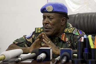 United Nations Force Intervention Brigade - Brigadier-General James Aloizi Mwakibolwa (Tanzania) who served as the FIB's first commander and presided over the operations against M23