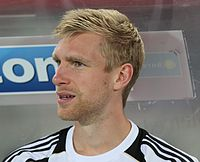 Per Mertesacker - the handsome, nice, tough,  football player  with German roots in 2019