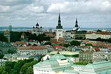 Tallinn, churches in the background
